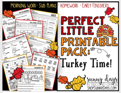 Perfect Little Printable Pack: Turkey Time