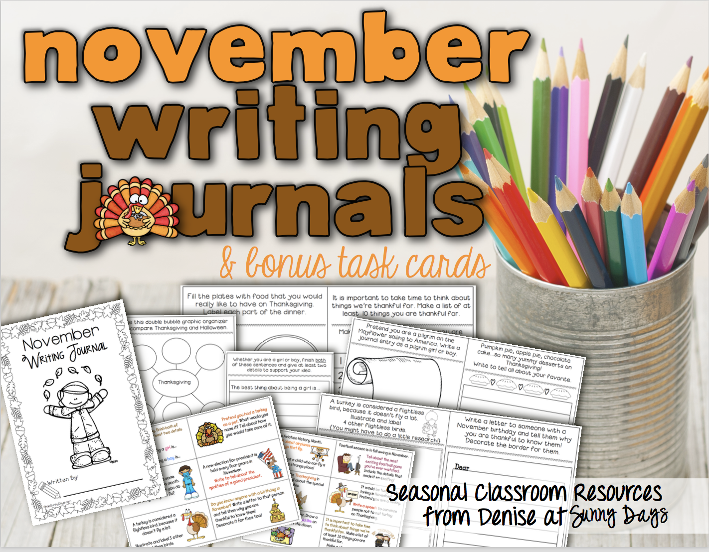 Printable Writing Journal for November
