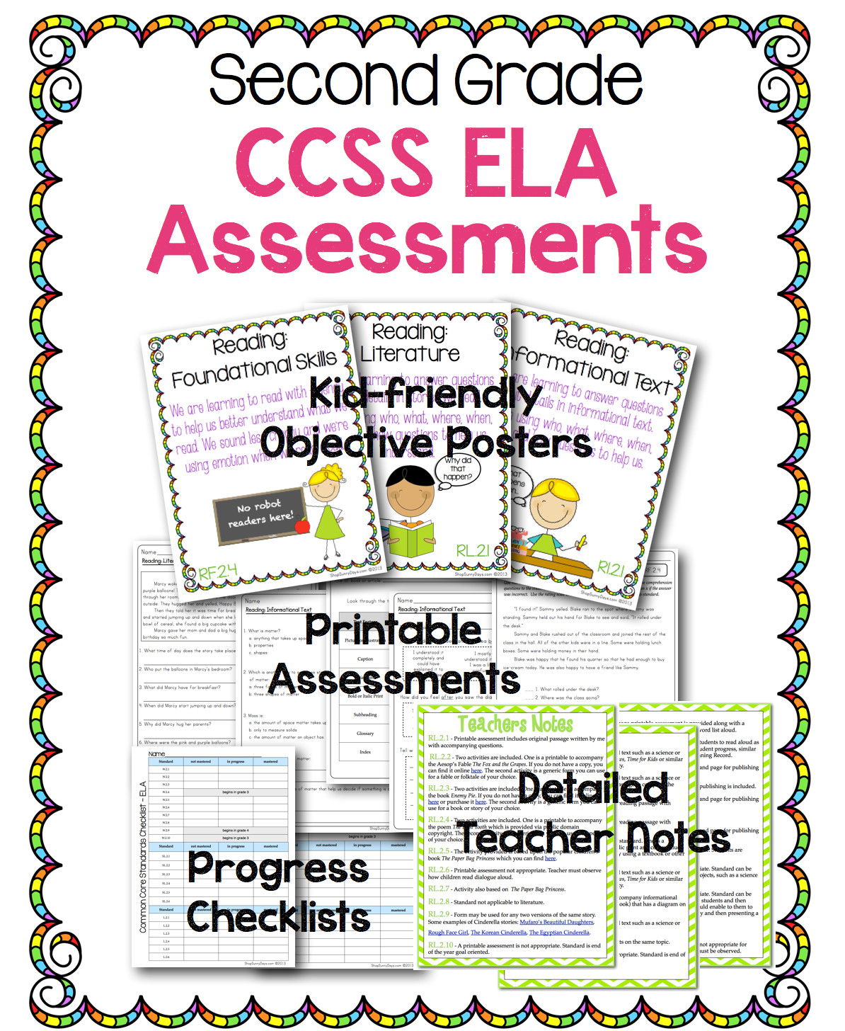Common Core ELA Assessments for 2nd Grade