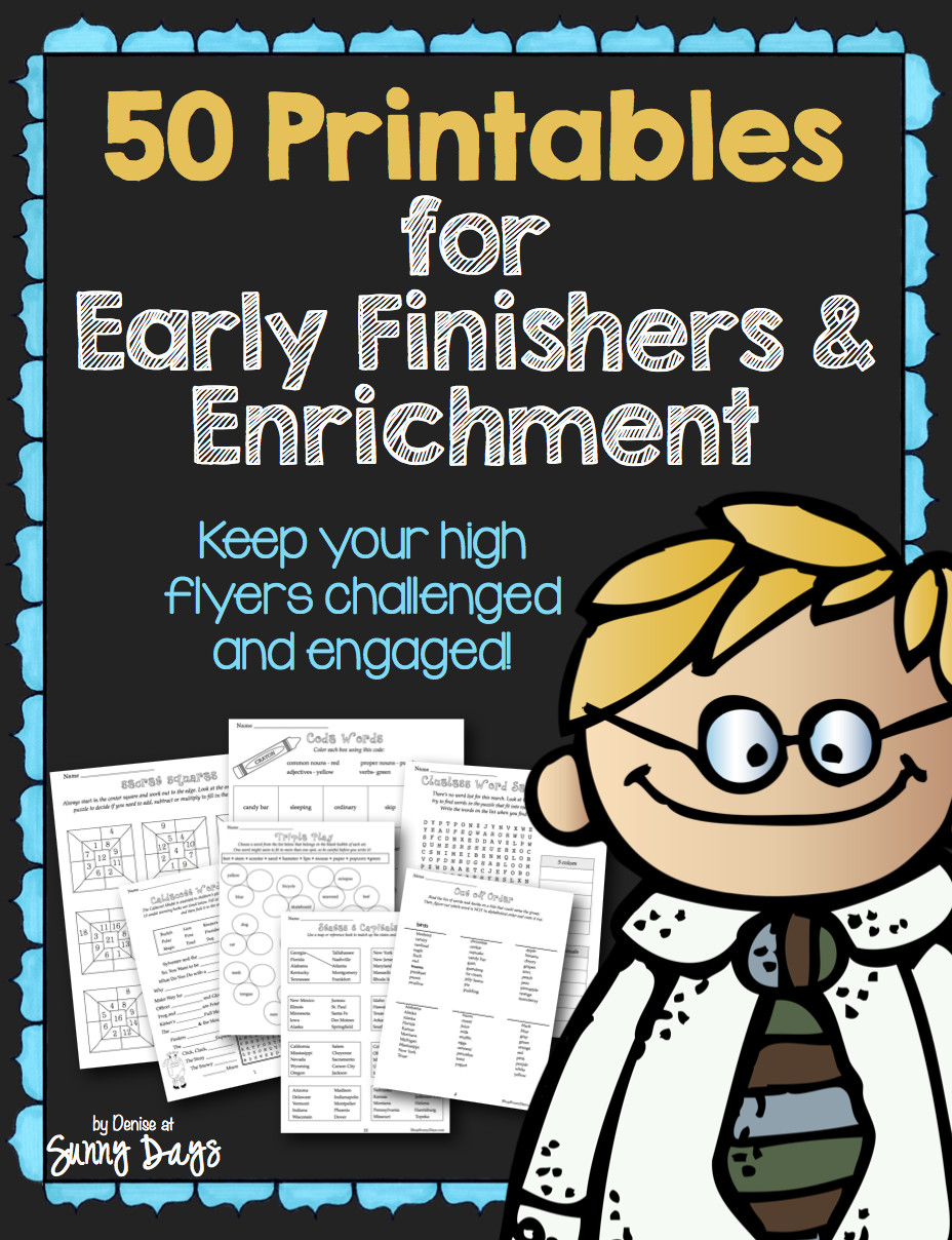 50 Printables for Enrichment and Early Finishers