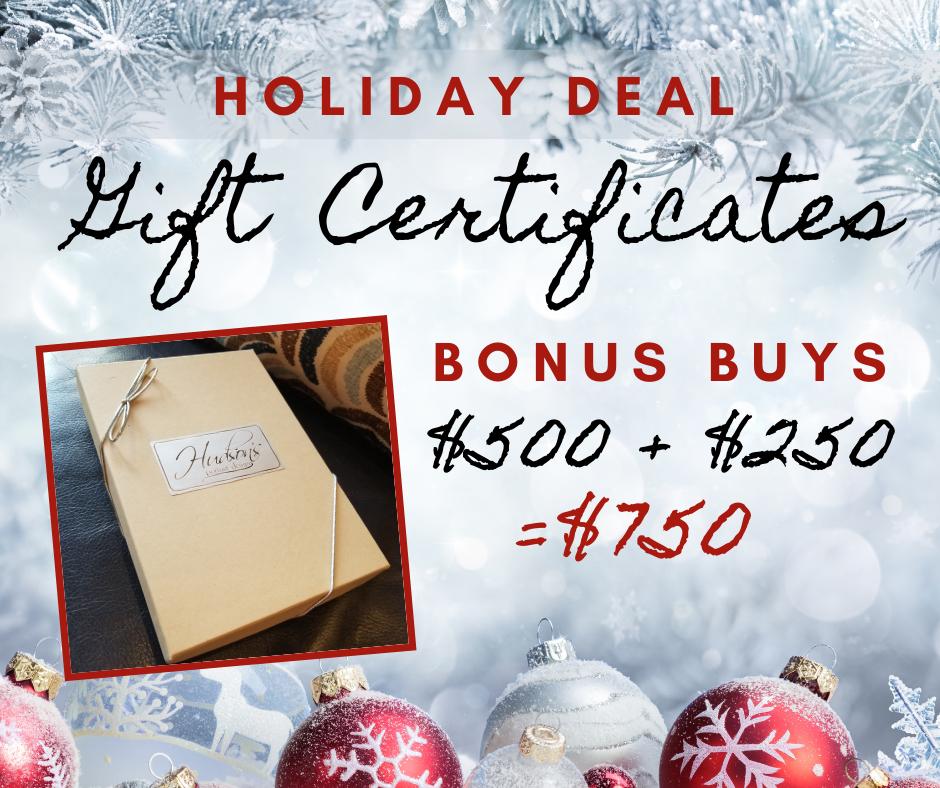 $500 Hudson's Gift Certificate - $250 Bonus Buy!