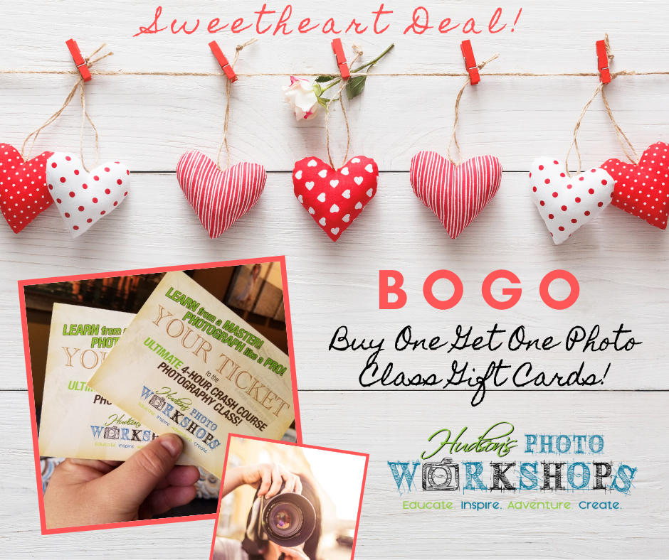 BOGO Photography Class Gift Card - Buy One Get One Free!