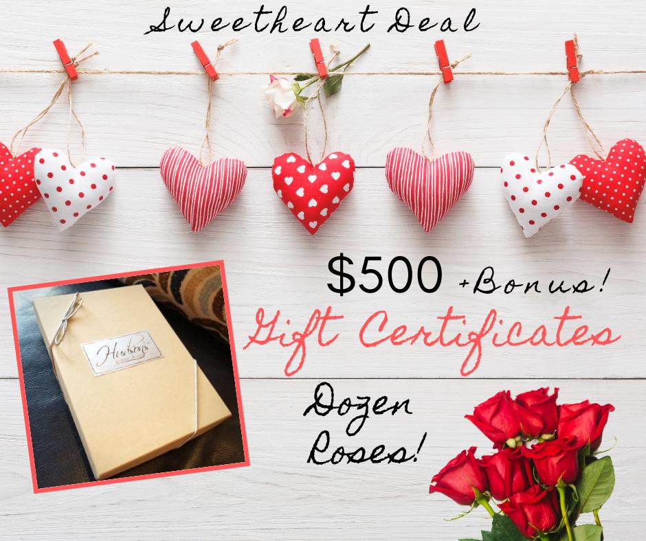$500 Gift Certificate + Dozen Roses!