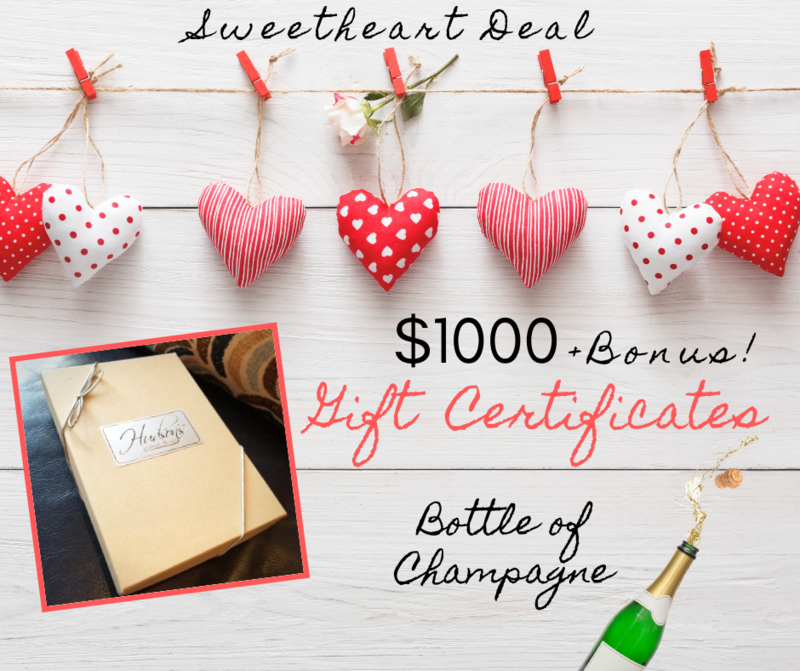 $1000 Gift Certificate + Champagne!