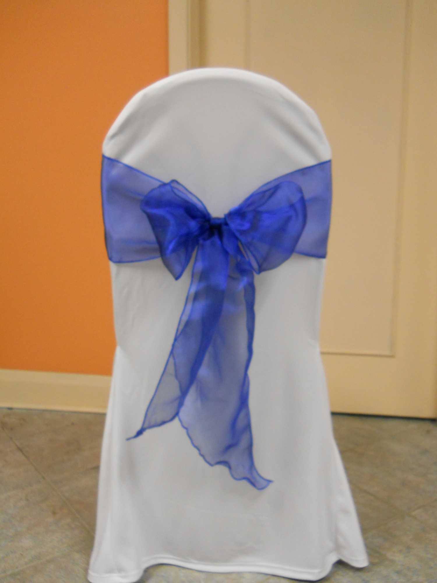 Royal Blue Chair Sash