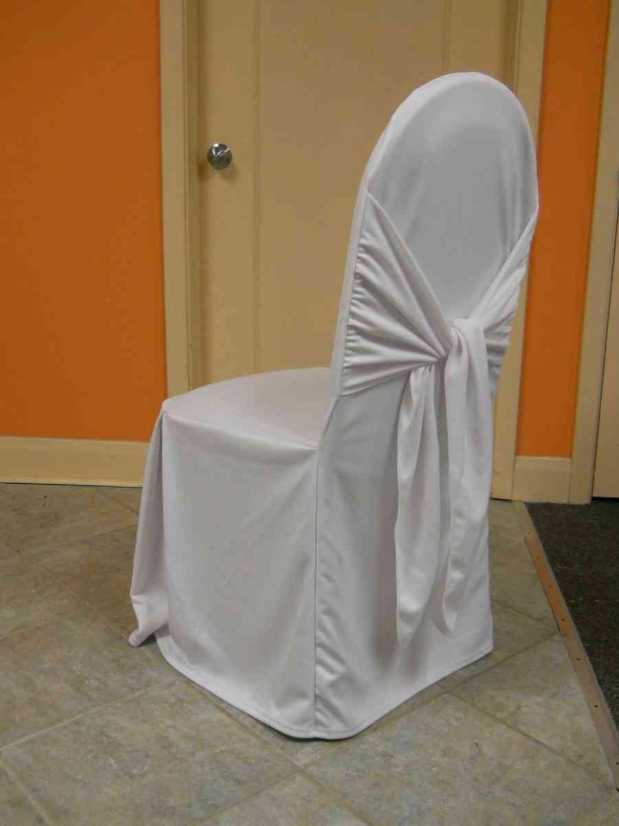Scuba Chair Cover (Bella White) 00012