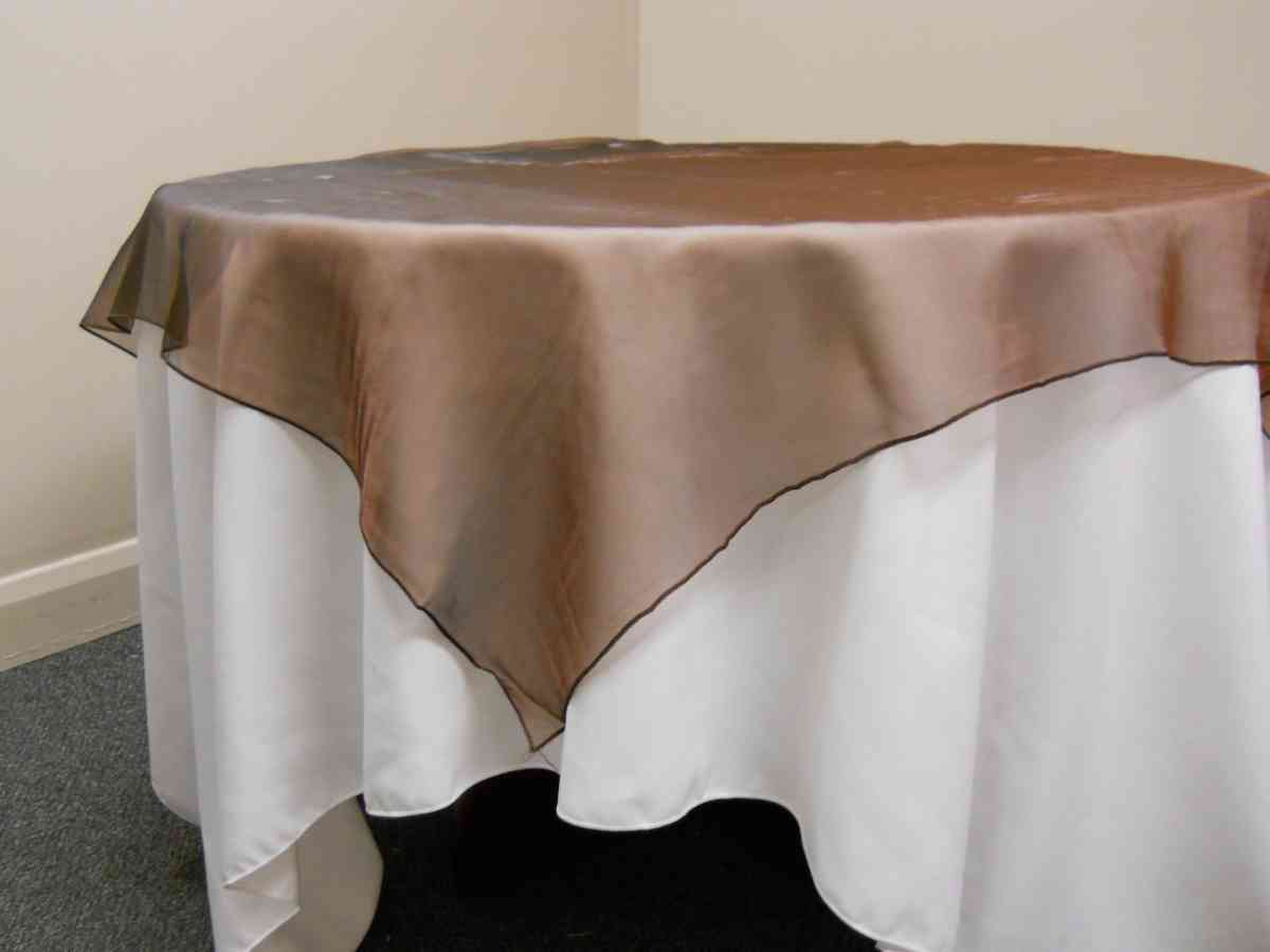 "Organza Overlay (90"" x 90"", Brown) 00037"