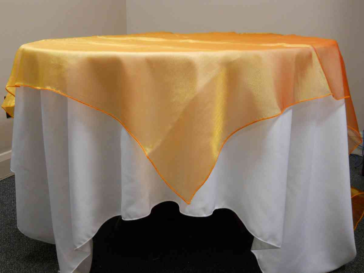 "Organza Overlay (90"" x 90"", Orange) 00042"