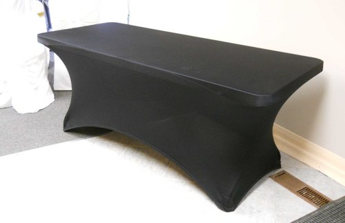 "Spandex Table Cover (for 72"" x 30"" x 30"" Table, Black)"