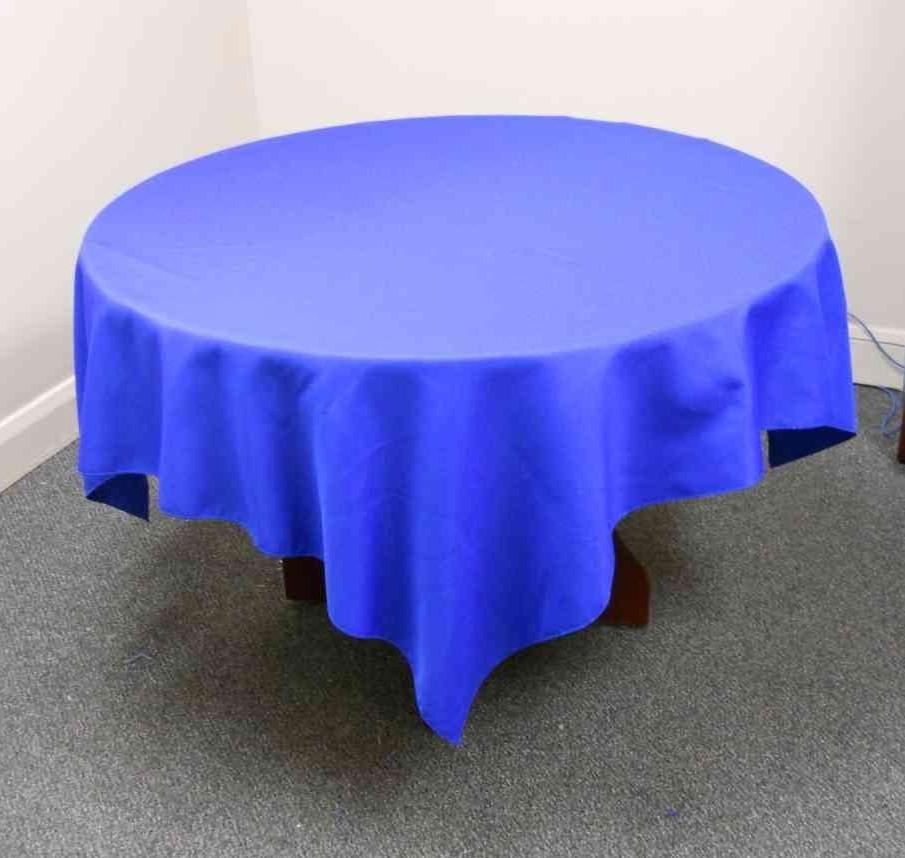 "Visa Polyspun Tablecloth (54"" x 54"", Royal)"