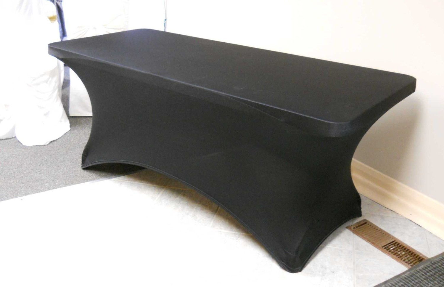 """Spandex Table Cover (for 72"""" x 30"""" x 30"""" Table, Black)"""