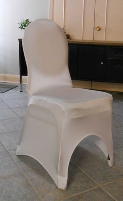 Spandex Curve Chair Cover (White)