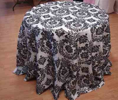Taffeta Flocking Tablecloth (132