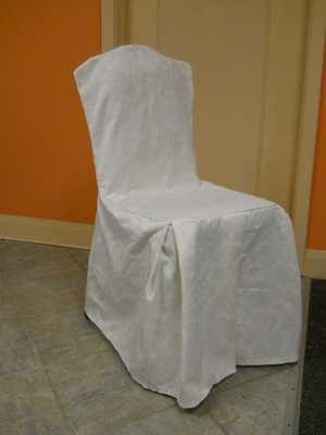 Damask Chair Cover (White)