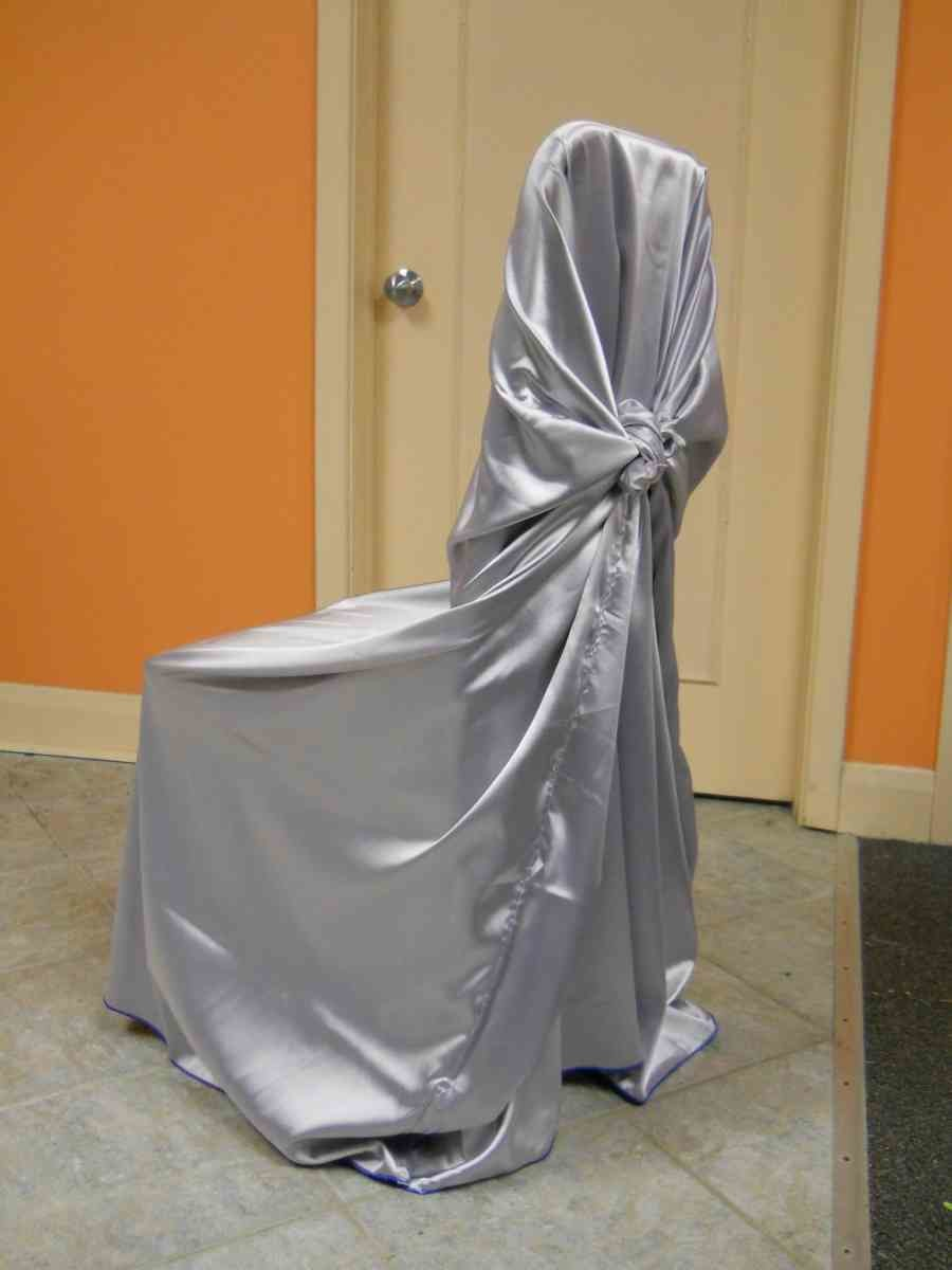 Satin Chair Wrap (Lavender/Silver)