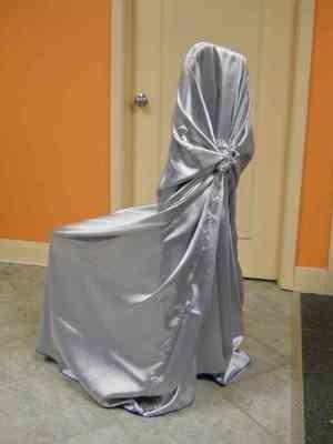 Satin Chair Wrap (Lavender/Silver)