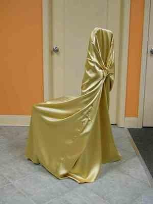 Satin Chair Wrap (Gold)