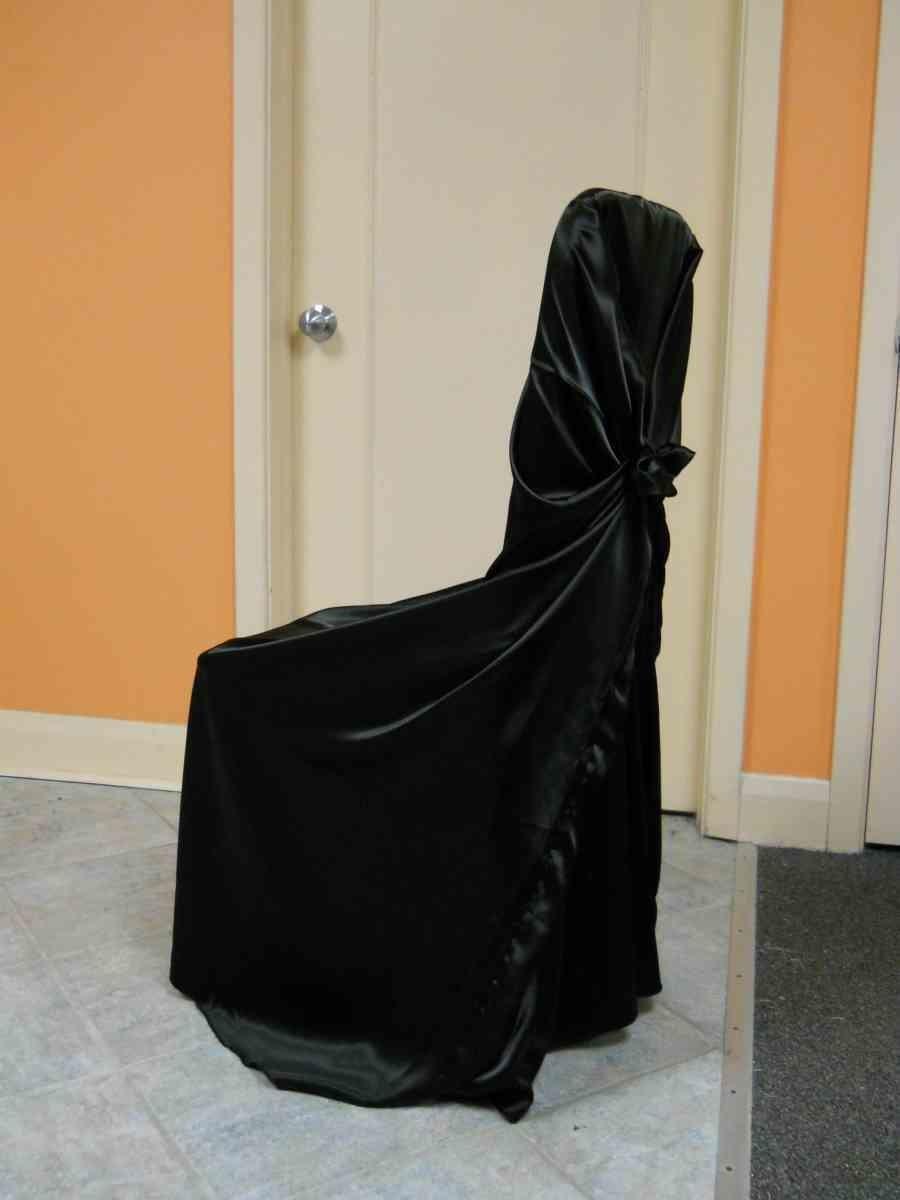 Satin Chair Wrap (Black)