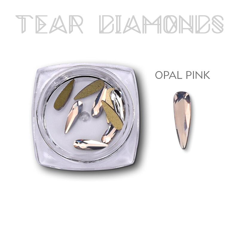 tear diamond opal pink 10 pcs