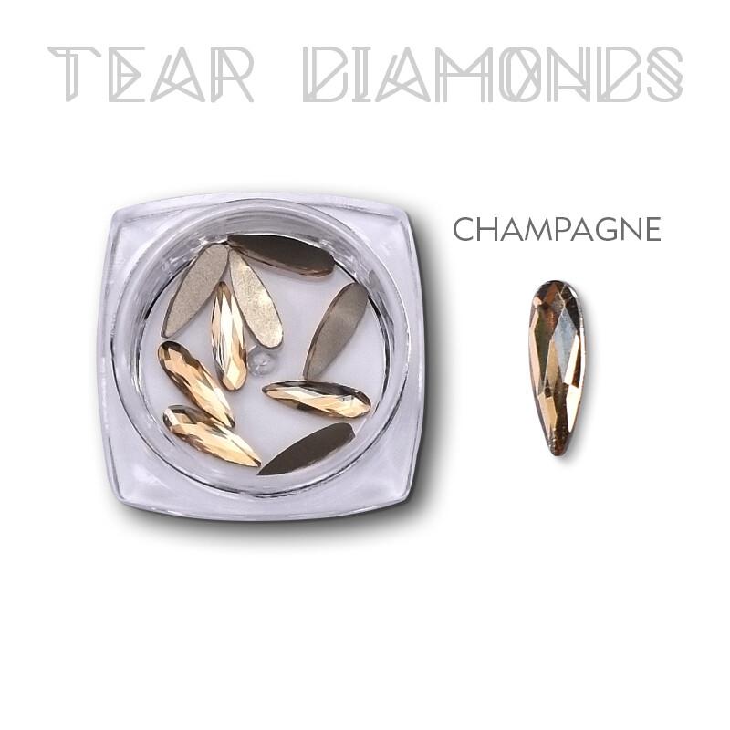 tear Diamond champagne 10pcs