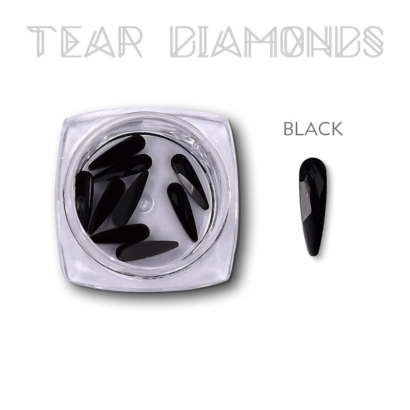 tear diamond black 10pcs