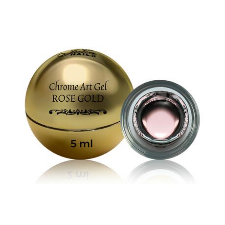 Chrome art gel rose gold