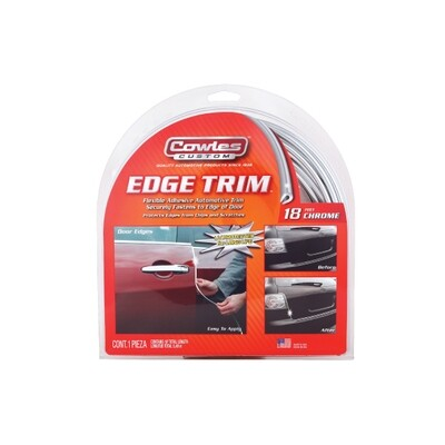Cowles® T5605  Chrome U Channel Edge Trim 18'