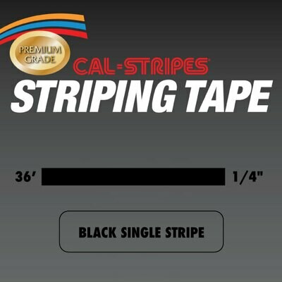 Black Single Stripe 1/4