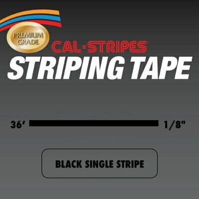Black Single Stripe 1/8