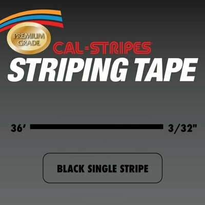 Black Single Stripe 3/32