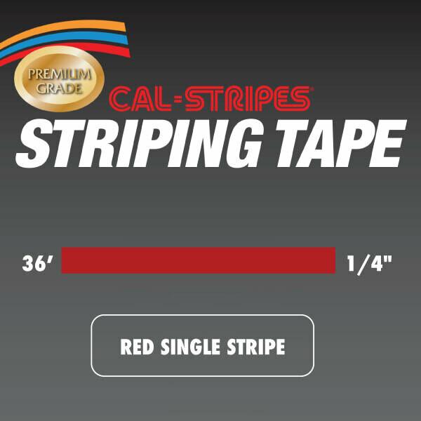 Red Single Stripe 1/4