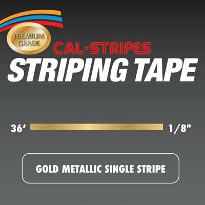 Gold Metallic Single Stripe 1/8