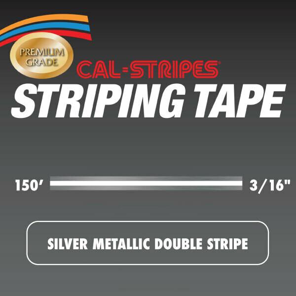 Silver Metallic Double Stripe 3/16