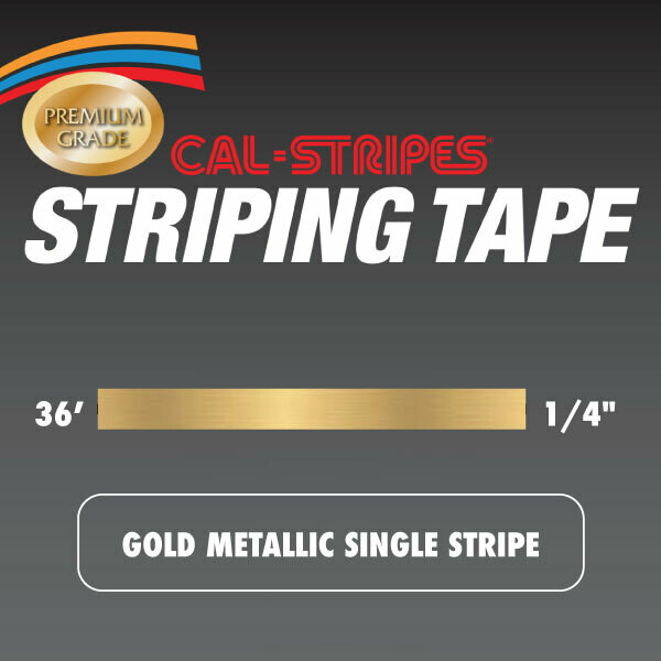 Gold Metallic Single Stripe 1/4