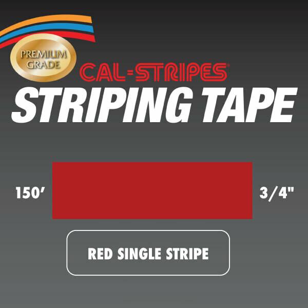 Red Single Stripe 3/4