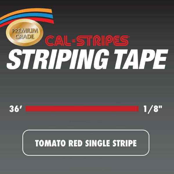 Tomato Red Single Stripe 1/8