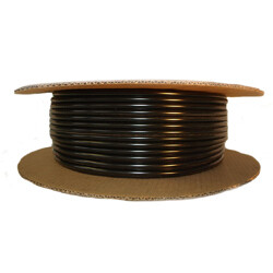 Black Half Round Wheel Well Molding 3/8