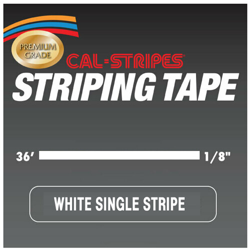 Cal-Stripes® White Single Pinstriping Tape 1/8