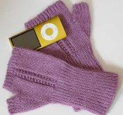 Fine Fingerless Gloves Knitting Pattern
