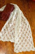 Pine Cone Lace Scarf Knitting Pattern