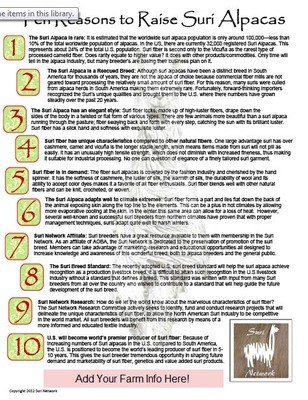 10 Reasons to Raise Suris Flyer
