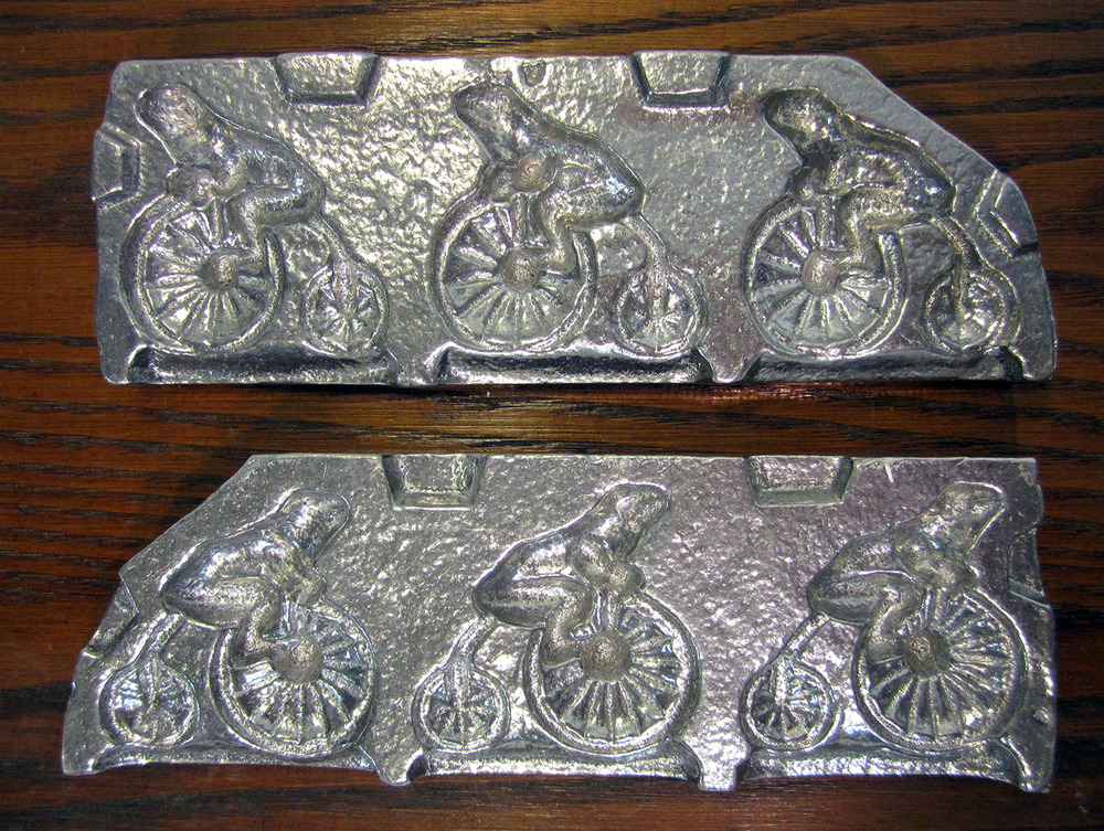 Frog & Bicycle (Small), Aluminum Clear Toy Candy Mold