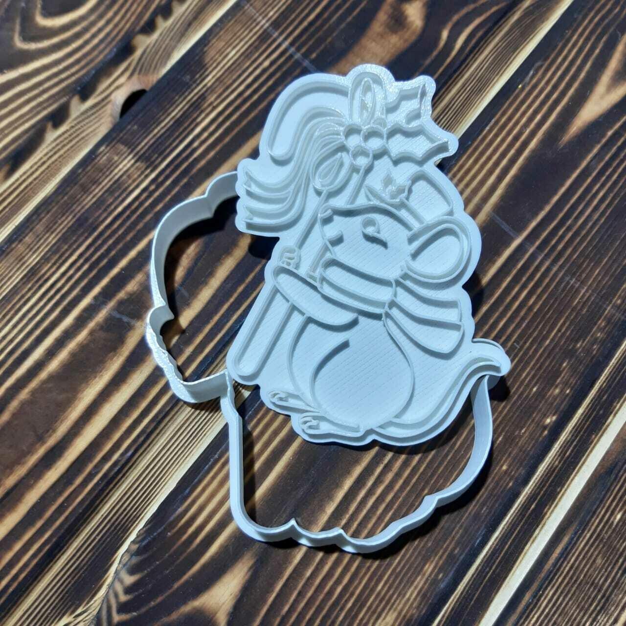 Мышка с конфетой 8,5х11 см со штампом
