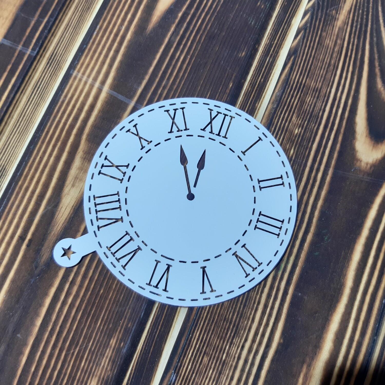 Трафарет Часы 9 см