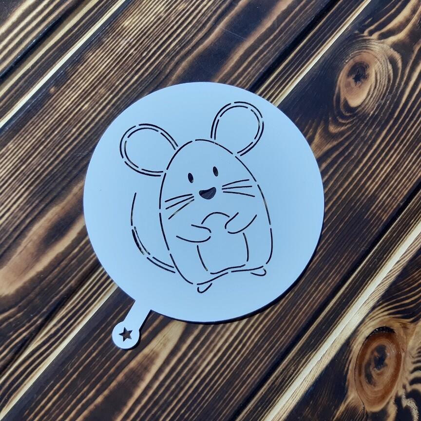 Трафарет Ушастый мышонок 9 см