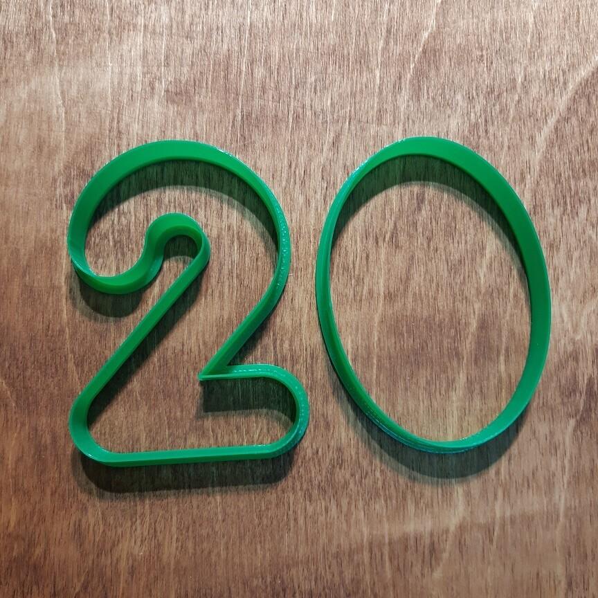 "Набор форма для пряников ""Цифры 2020"" (7х10 см)"