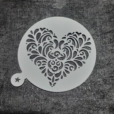 Трафарет Сердце №3 (9 см)