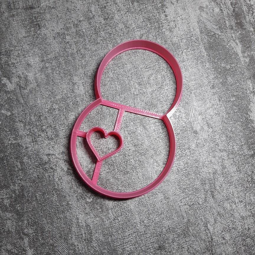"""Форма для пряника """"Восьмерка с сердцем"""" (8х12 см)"""