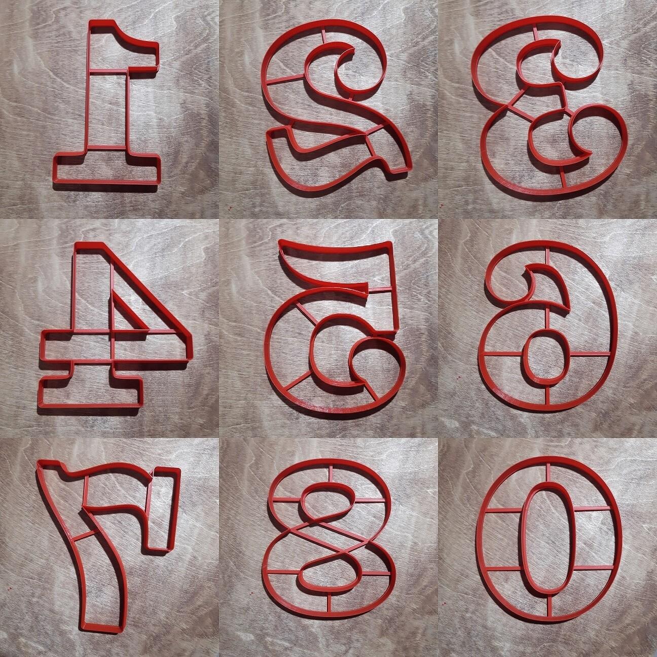 """Набор форм для пряников """"Цифры Clarendon 24 см"""""""