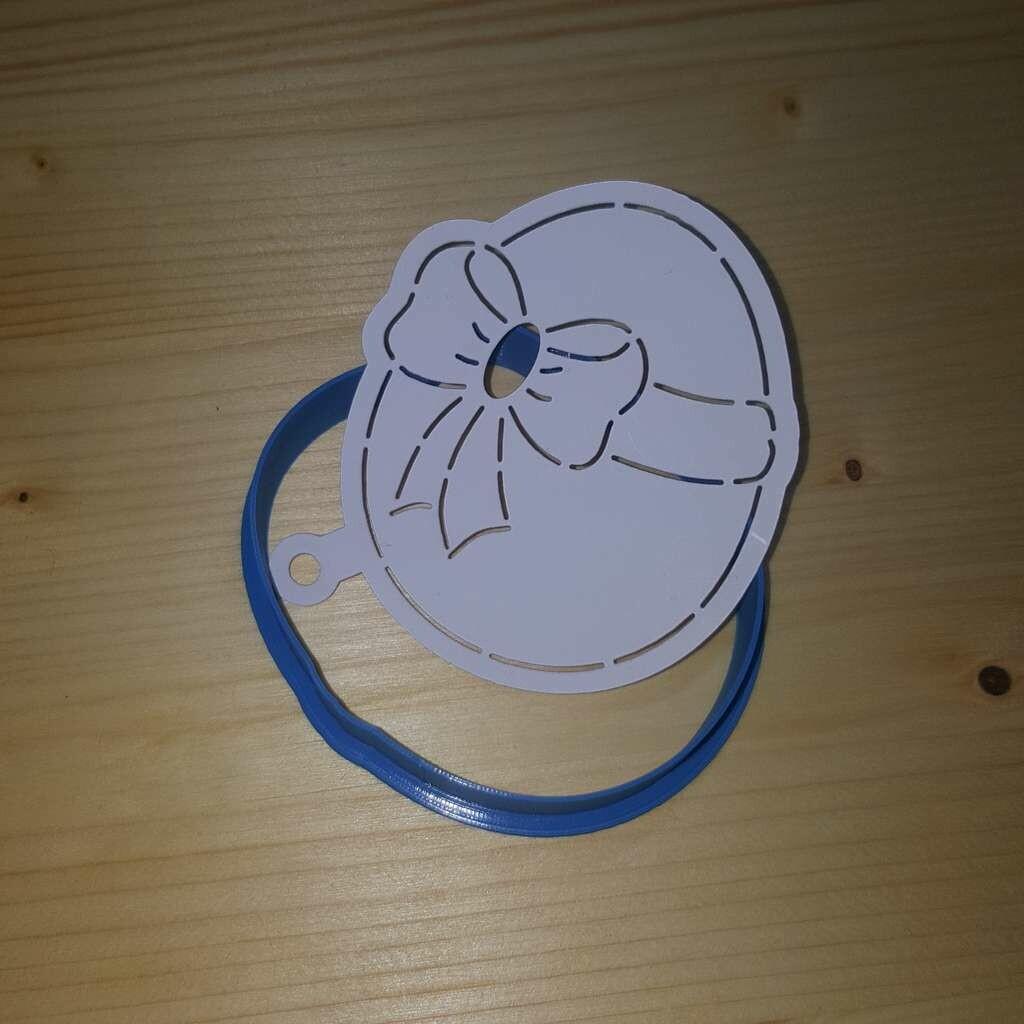 """Форма для пряника """"Яйцо №3"""" (7х8 см) с трафаретом"""
